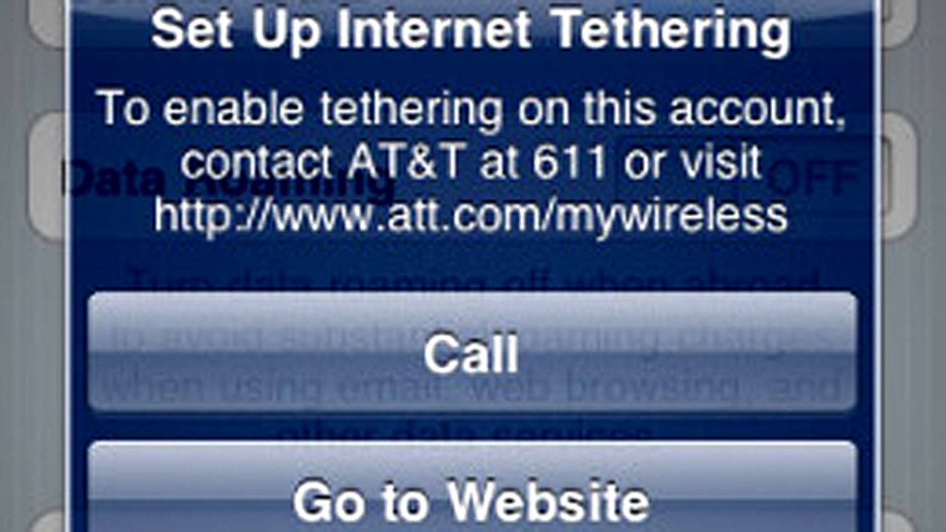A beta version of Apple's forthcoming iPhone OS 4.0 software reportedly comes with a long-overdue feature: Internet tethering.