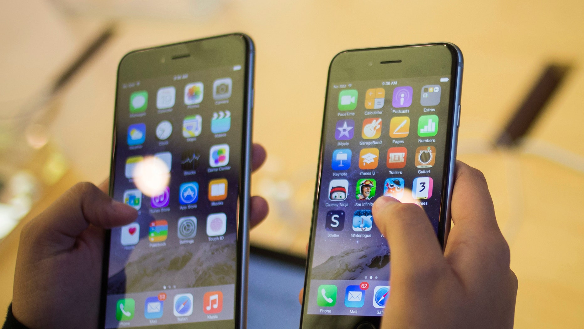 File photo. Apple may have just launched the iPhone 6 (R) and the 6 Plus, but news of the iPhone 6S is already on its way.