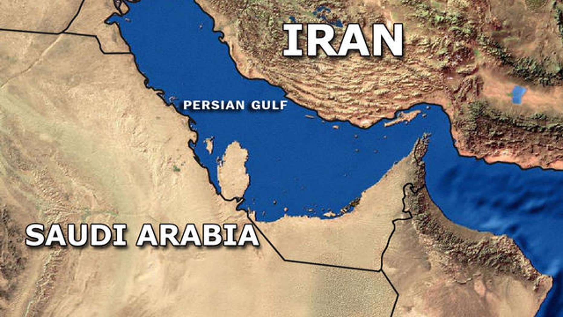 FILE map of Iran and surrounding countries.