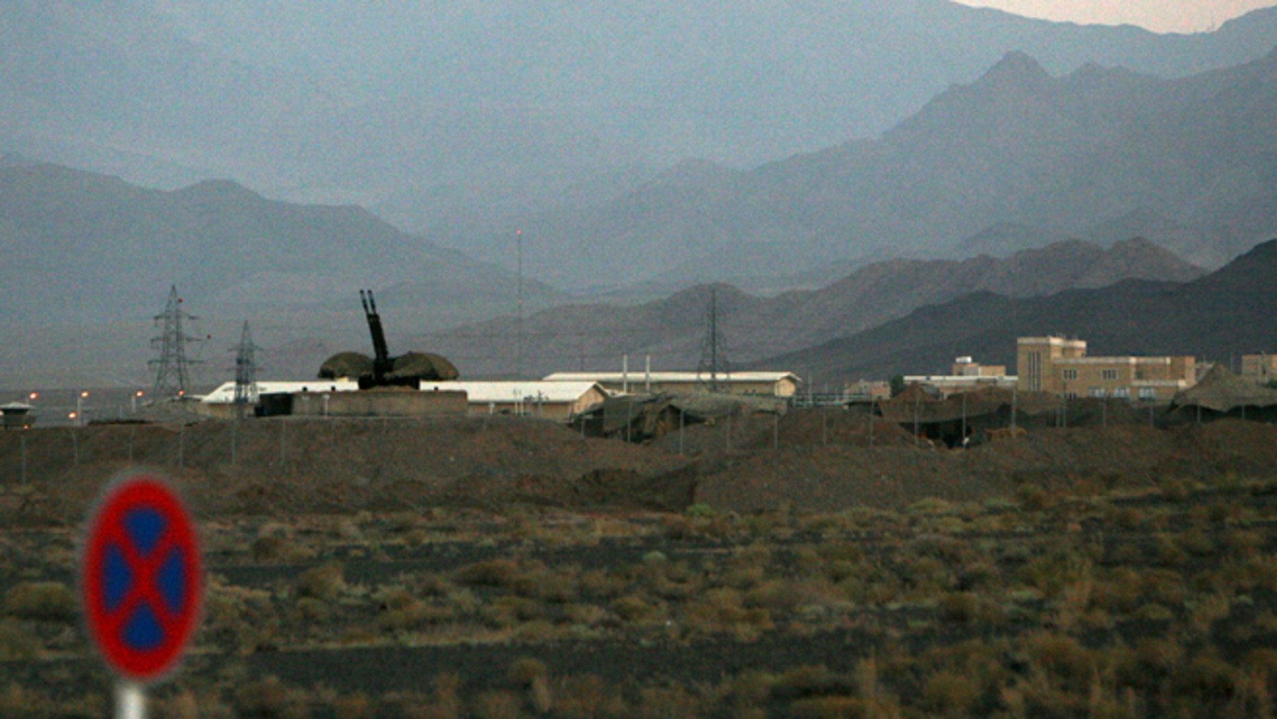 In this Sept. 2007 file picture an anti-aircraft gun position is seen at Iran's nuclear enrichment facility in Natanz, Iran.