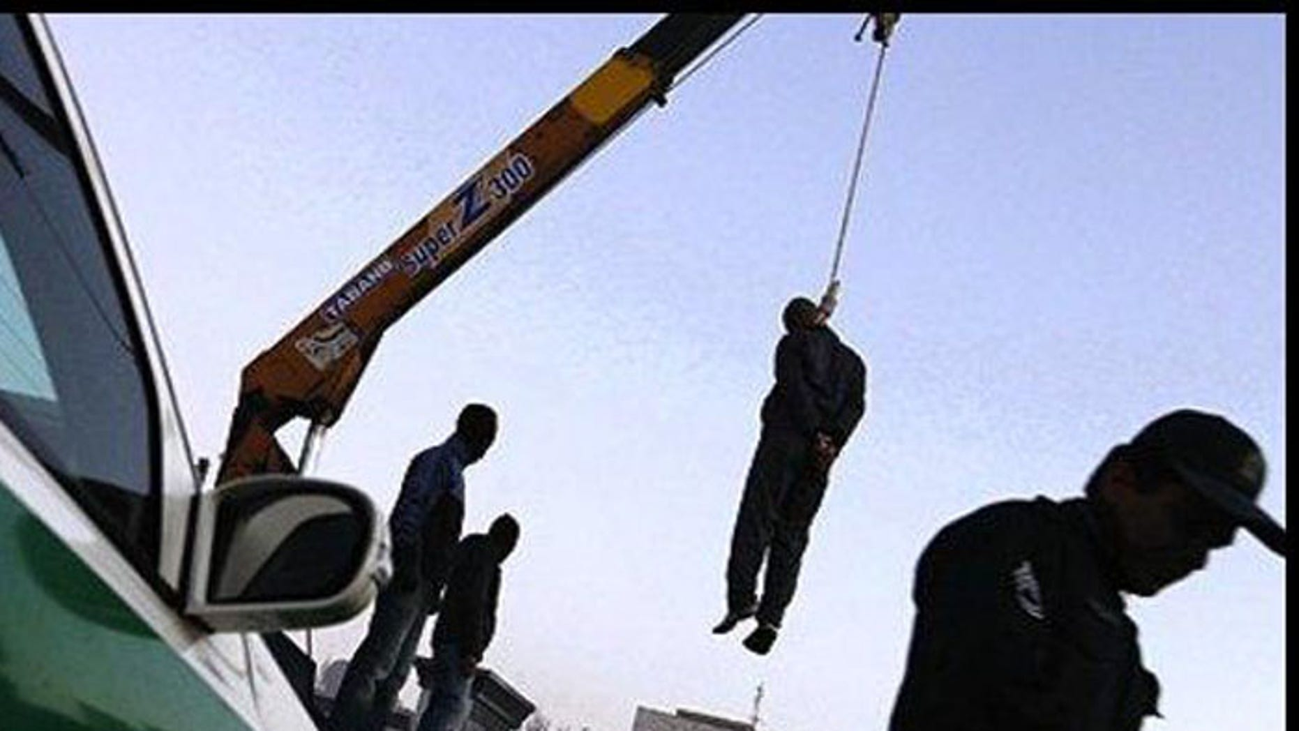Iran is infamous for using cranes for public executions. (Reuters)