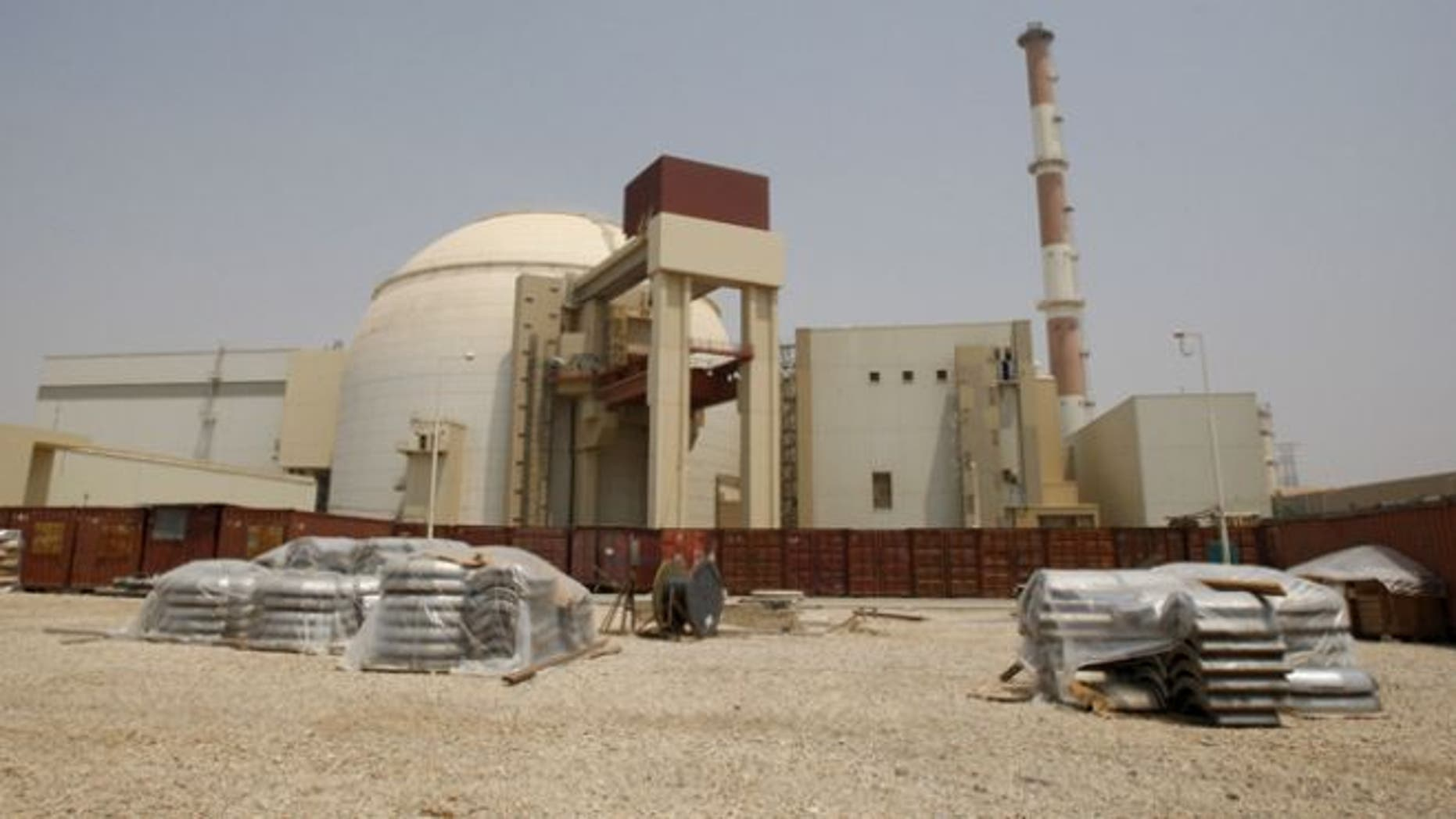 FILE: Aug. 21, 2010: The reactor building of the Bushehr nuclear power plant is seen, outside the southern city of Bushehr, Iran.