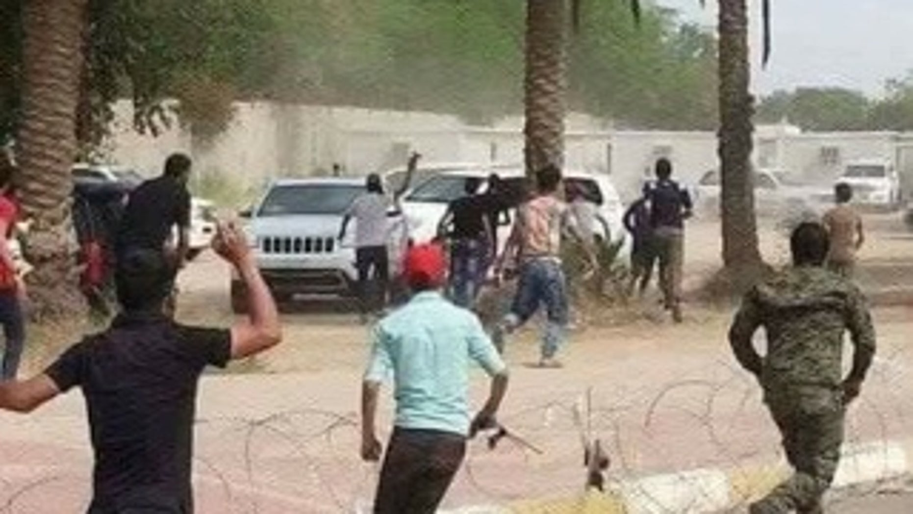 """Protests in Iraq's """"Green Zone"""" continued on Saturday when protesters stormed parliament."""
