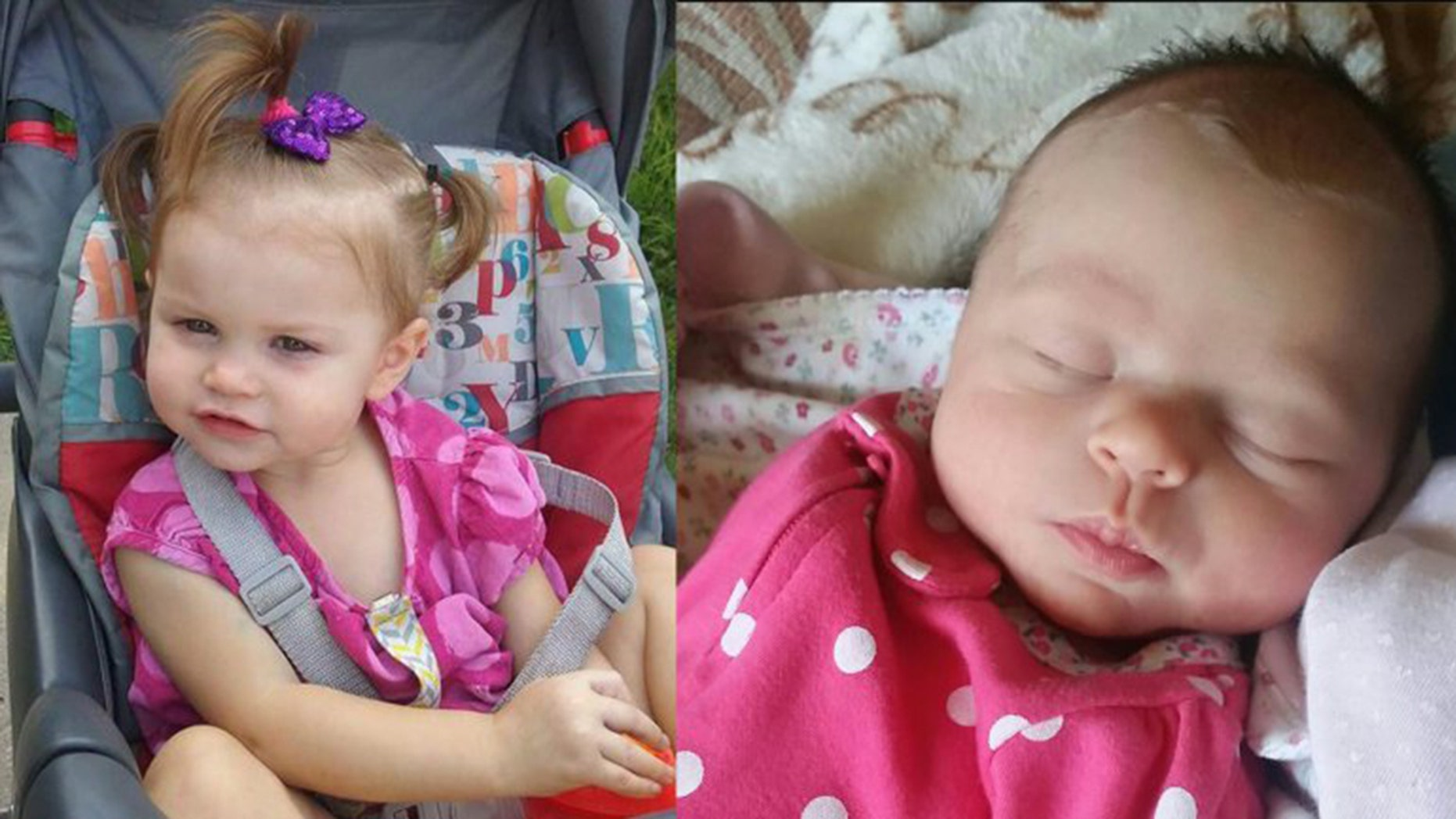 Ireland Ribando, 2, left, and Goodknight Ribando, 7 weeks old, were found dead on Independence Day.