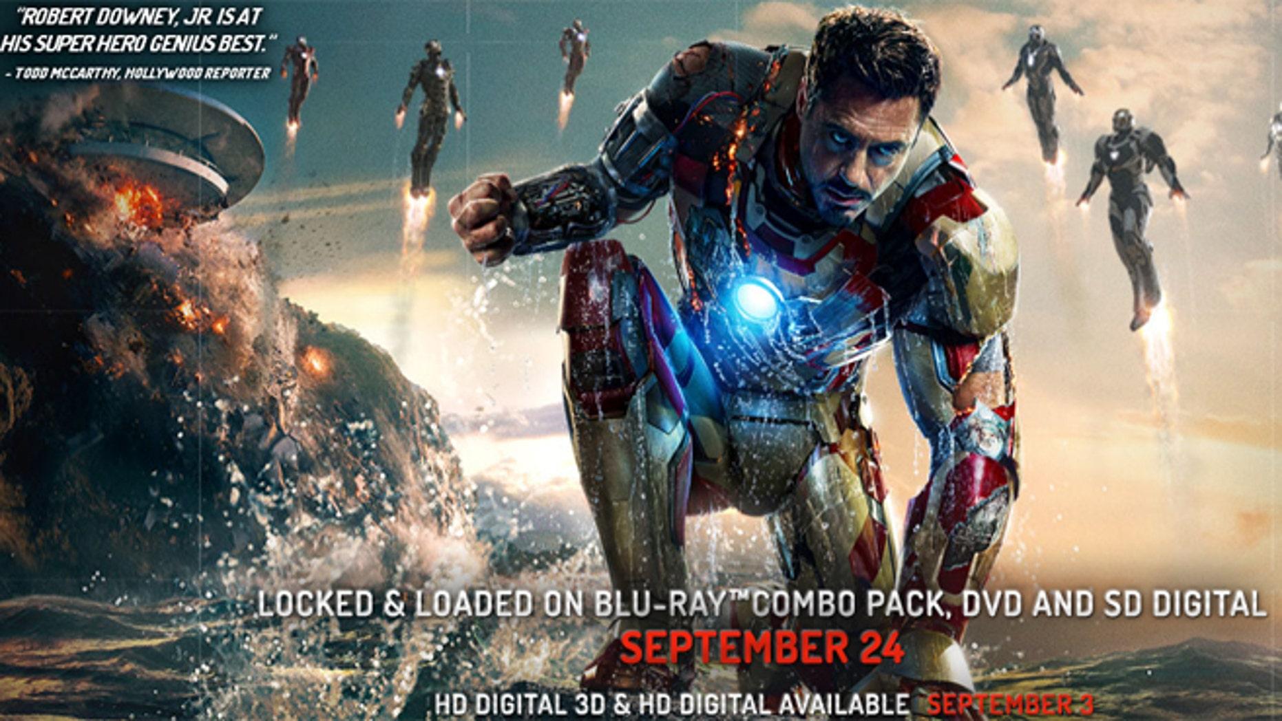 Robert Downey, Jr. as Iron Man.