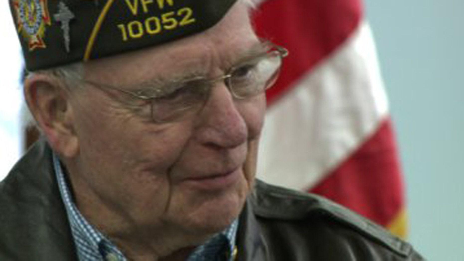 World War II vet Irvin Daubert of Cheshire, Conn. (Fox 61)
