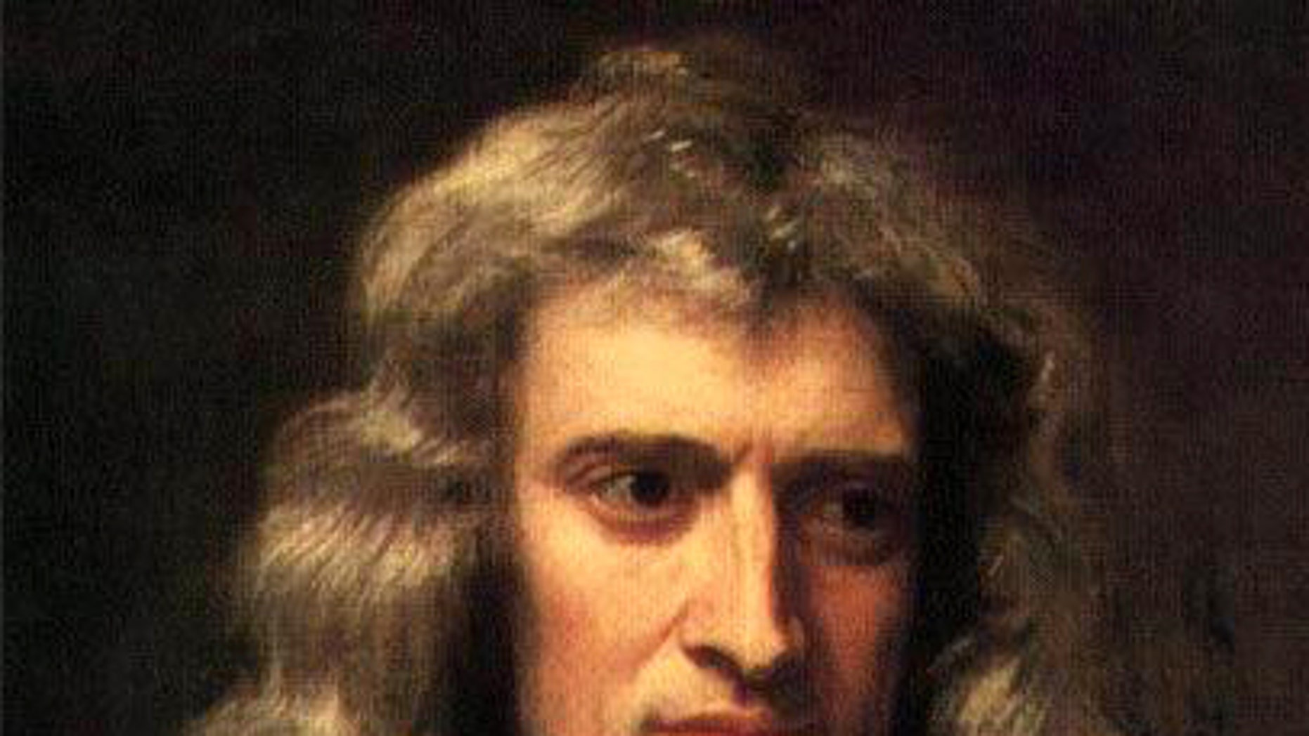 A painting of Sir Isaac Newton by Sir Godfrey Kneller, dated to 1689.