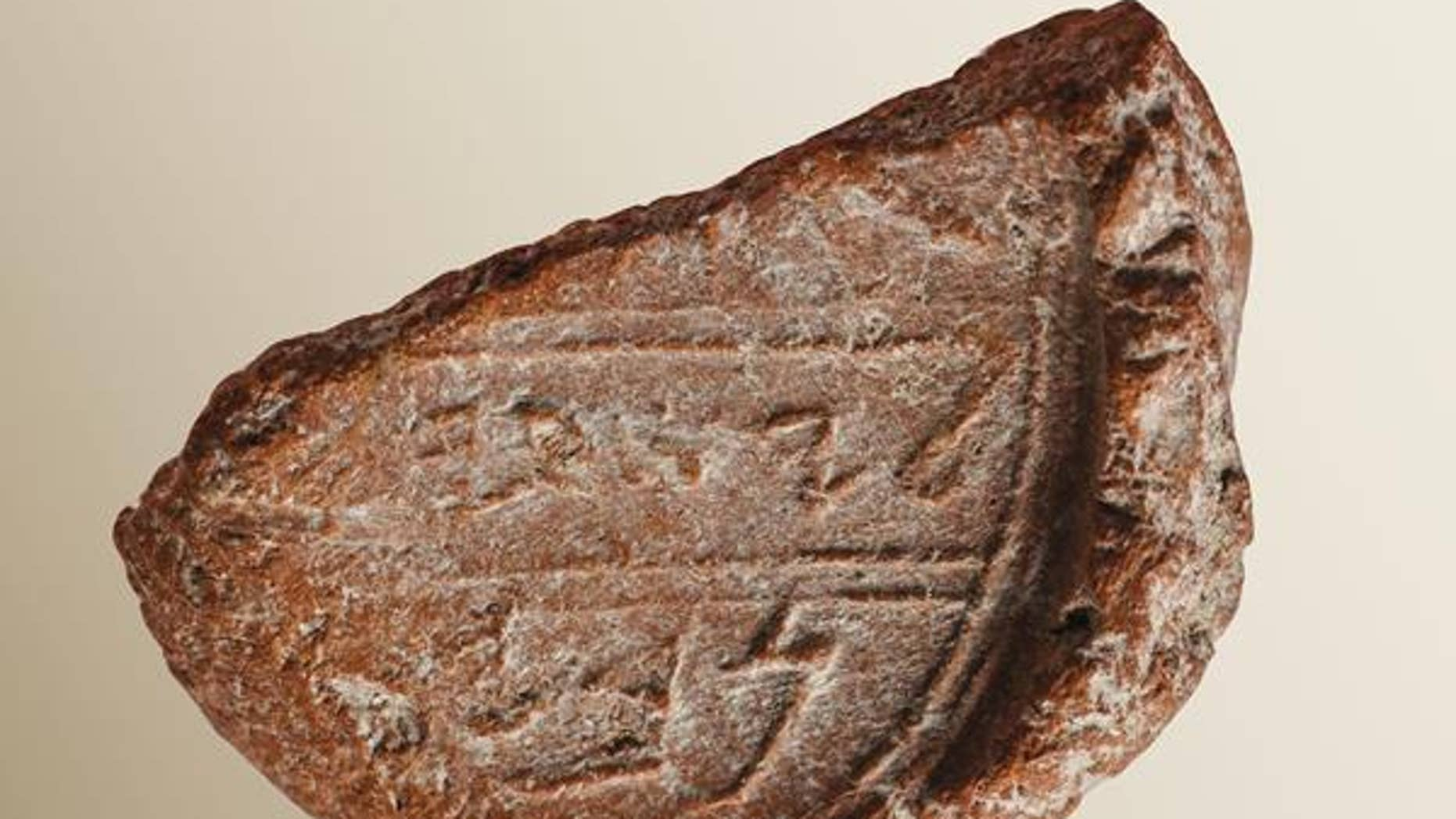 The seal mark discovered in Jerusalem (Eilat Mazar/Biblical Archaeological Society)