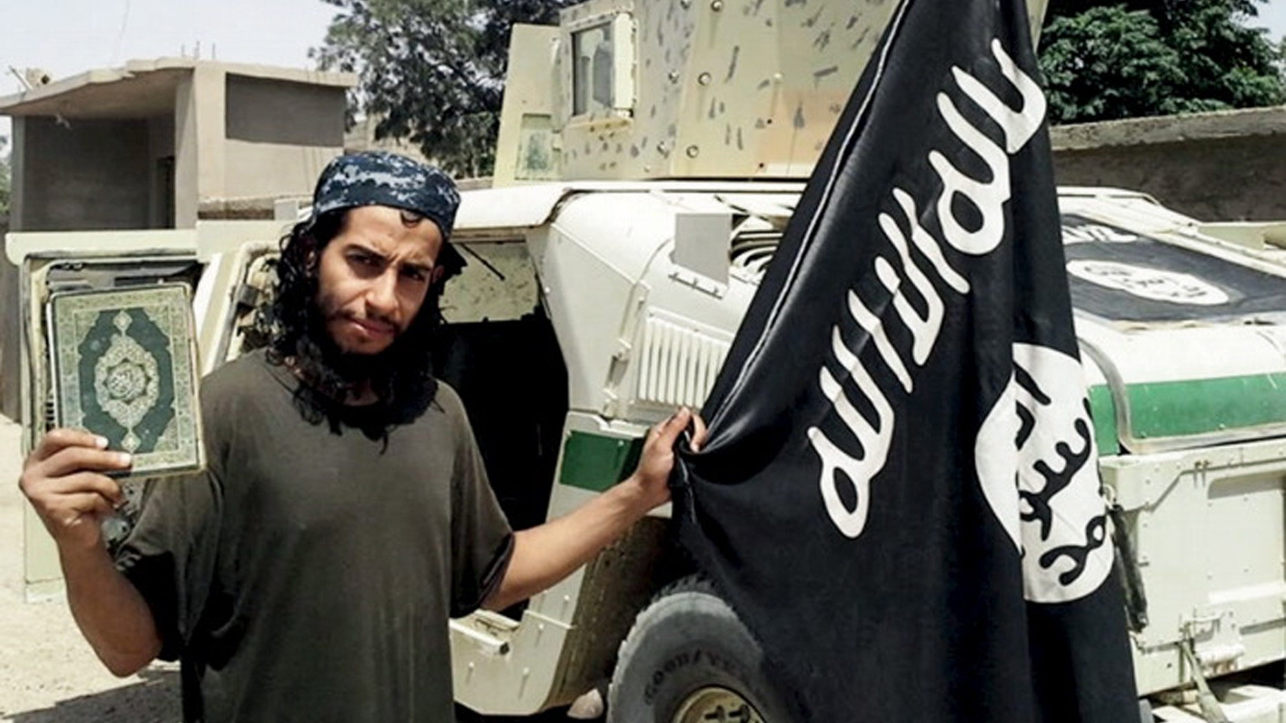 An undated photograph of a man described as Abdelhamid Abaaoud that was published in the Islamic State's online magazine Dabiq and posted on a social media website. A Belgian national in Syria and was believed to be one of Islamic State's most active operators is suspected of being behind attacks in Paris
