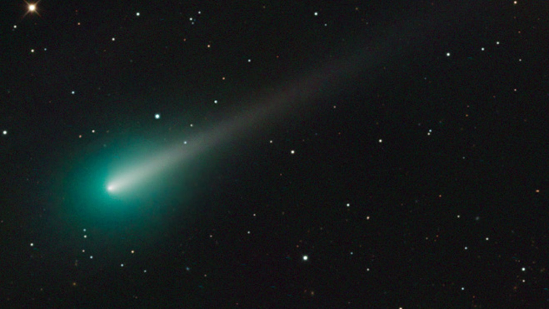 Oct.. 8, 2013: Adam Block took this image of comet ISON using a SBIG STX16803 CCD Camera with a 32-inch Schulman Telescope Schulman Telescope atop Mount Lemmon from the University of Arizona's SkyCenter in the morning.