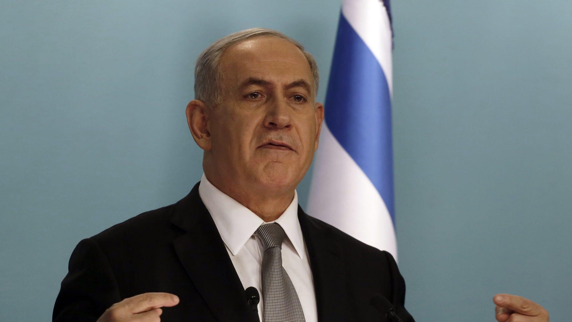 Dec. 2, 2014: Israeli Prime Minister Benjamin Netanyahu attends a press conference in Jerusalem.