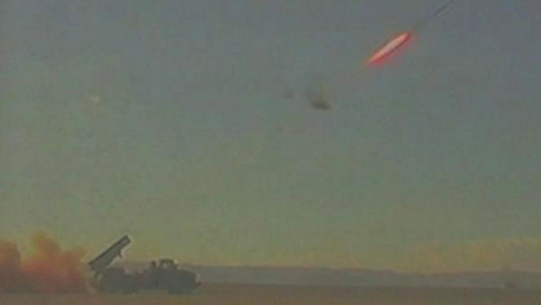 File photo: In this photo provided by Israeli Defence Ministry shows a rocket fired by the Iron Dome system during a test fire somewhere in southern Israel.