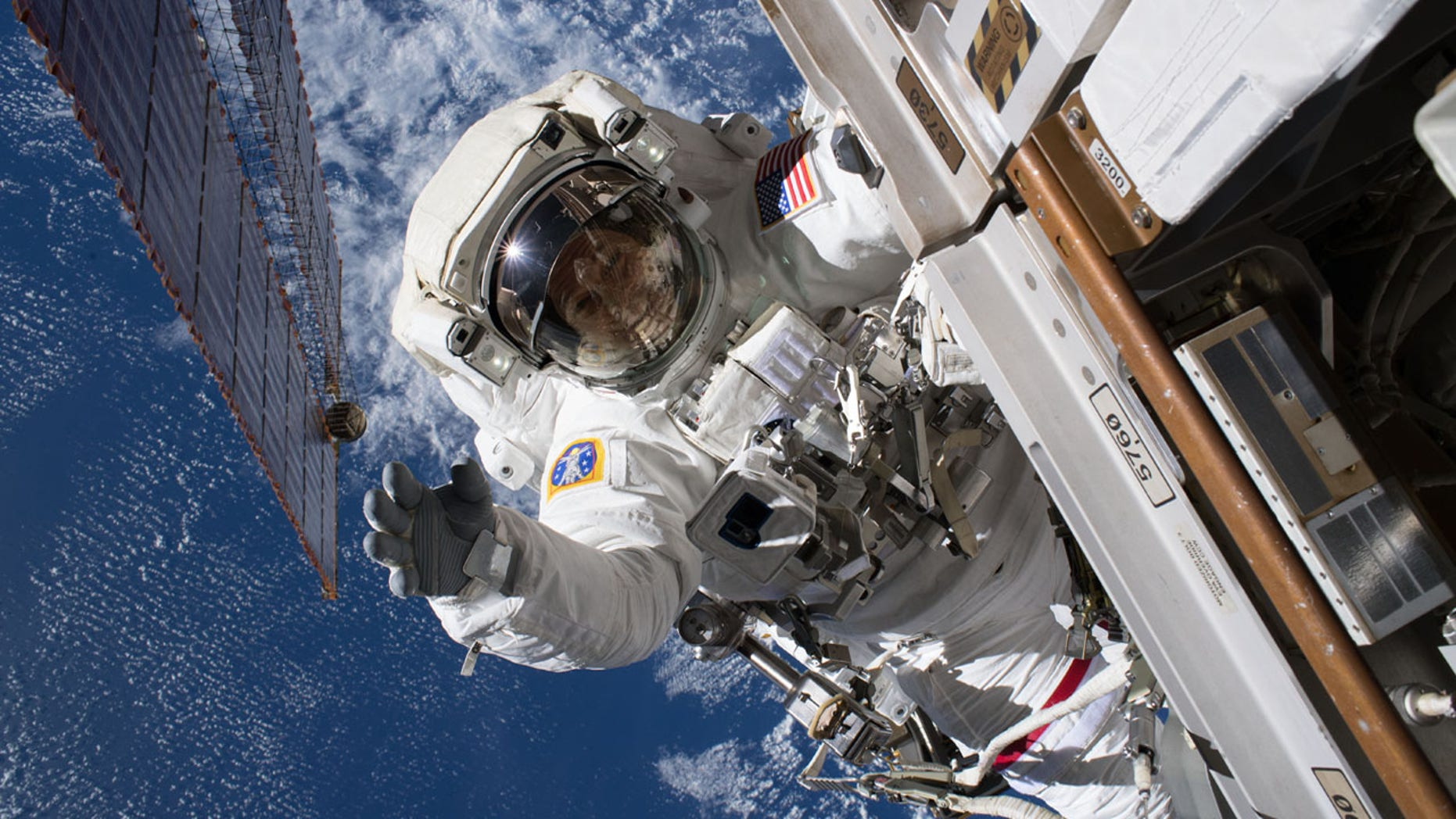 FILE: An astronaut at the International Space Station seen last week.