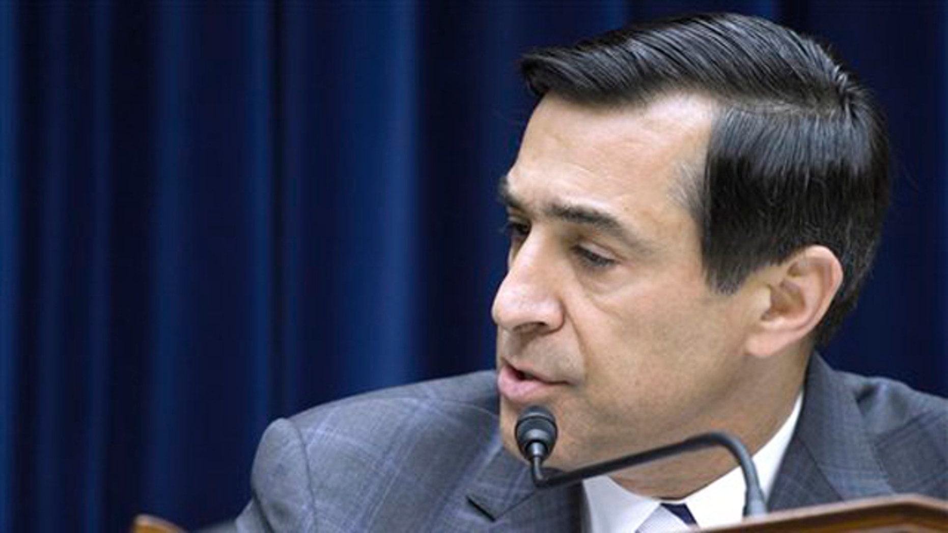 File: June 2, 2012:  House Oversight and Government Reform Committee Chairman Rep. Darrell Issa speaks on Capitol Hill.