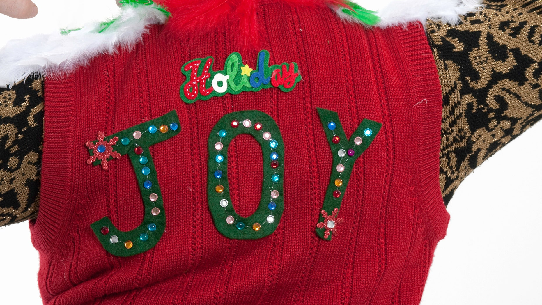 Ugly holiday sweaters have a new rival, ugly holiday rompers...for men.