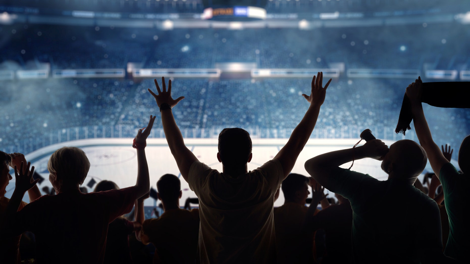 Watching a hockey game live can more than double a fan's heart rate.