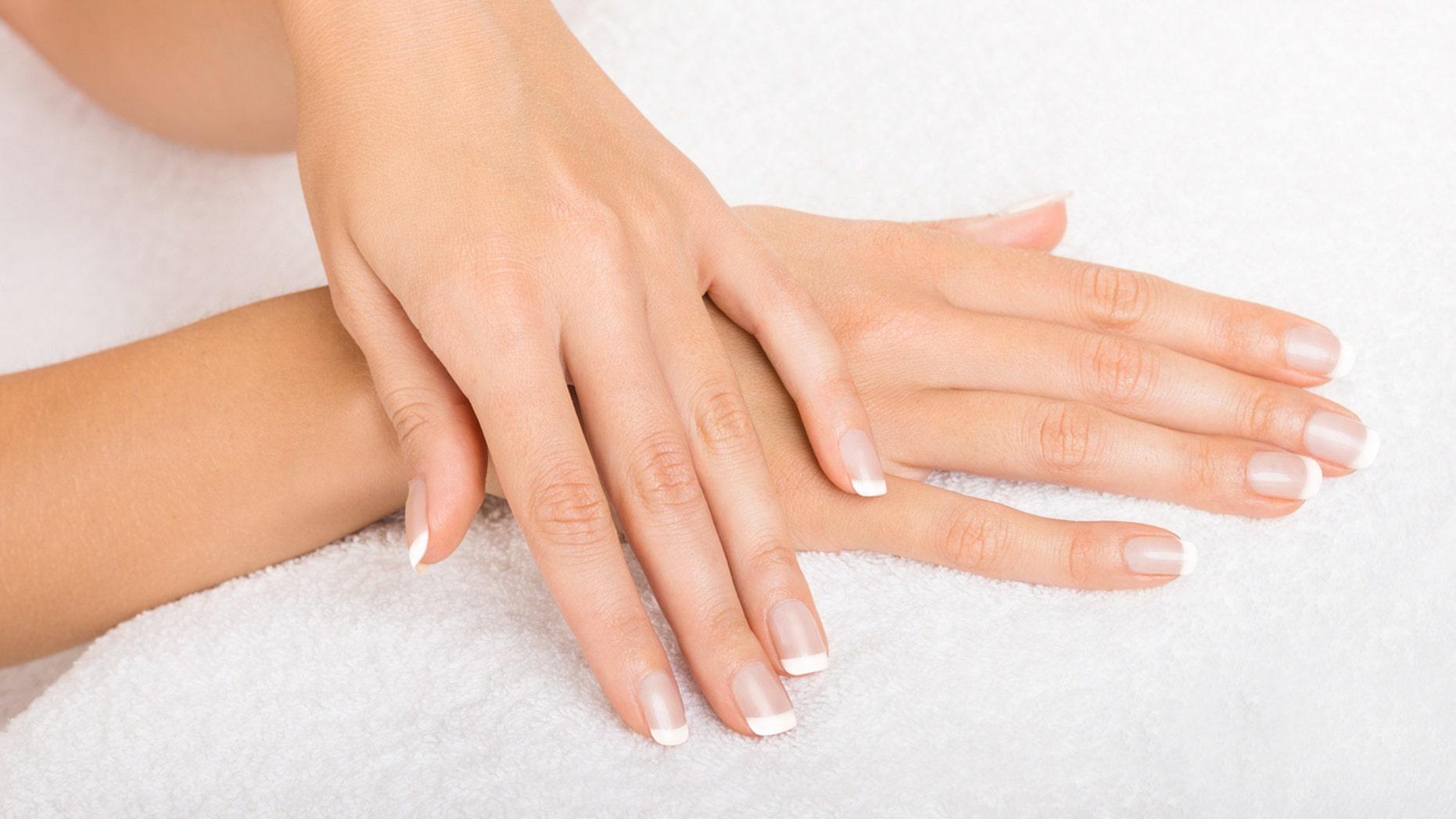 Hands on towel - Manicure
