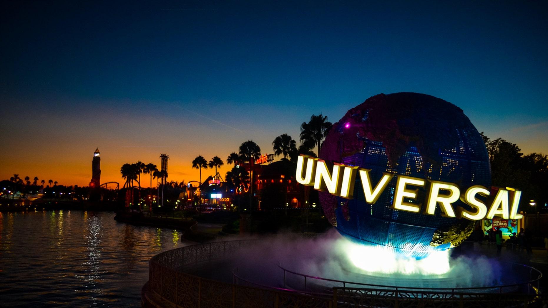 Orlando, FL, United States of America - December 6, 2012: a Sunset at the Universal Studios Resort in Orlando