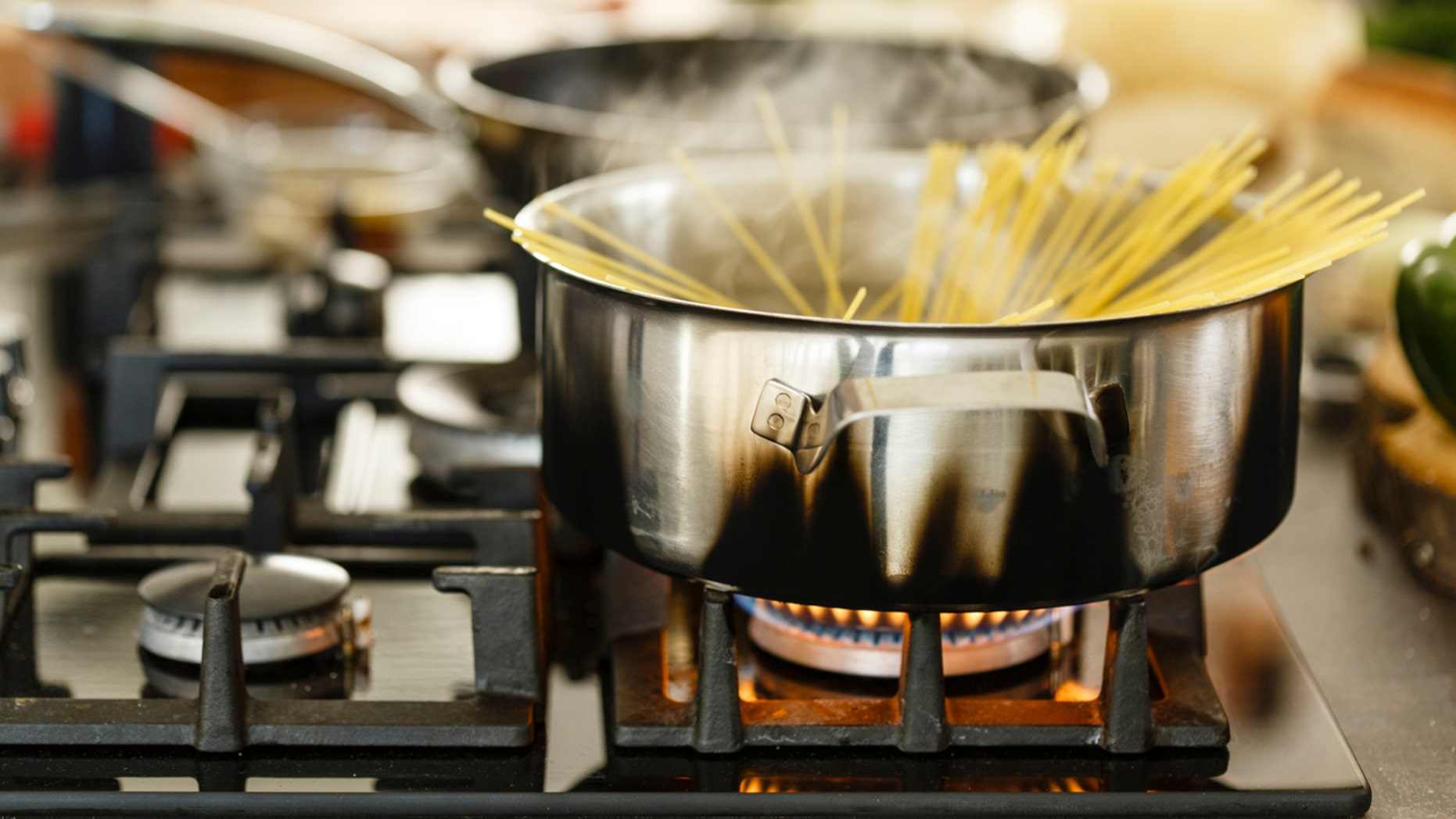 Three American students living abroad in Florence, Italy, started a fire in their apartment by cooking pasta without the most basic of ingredients.