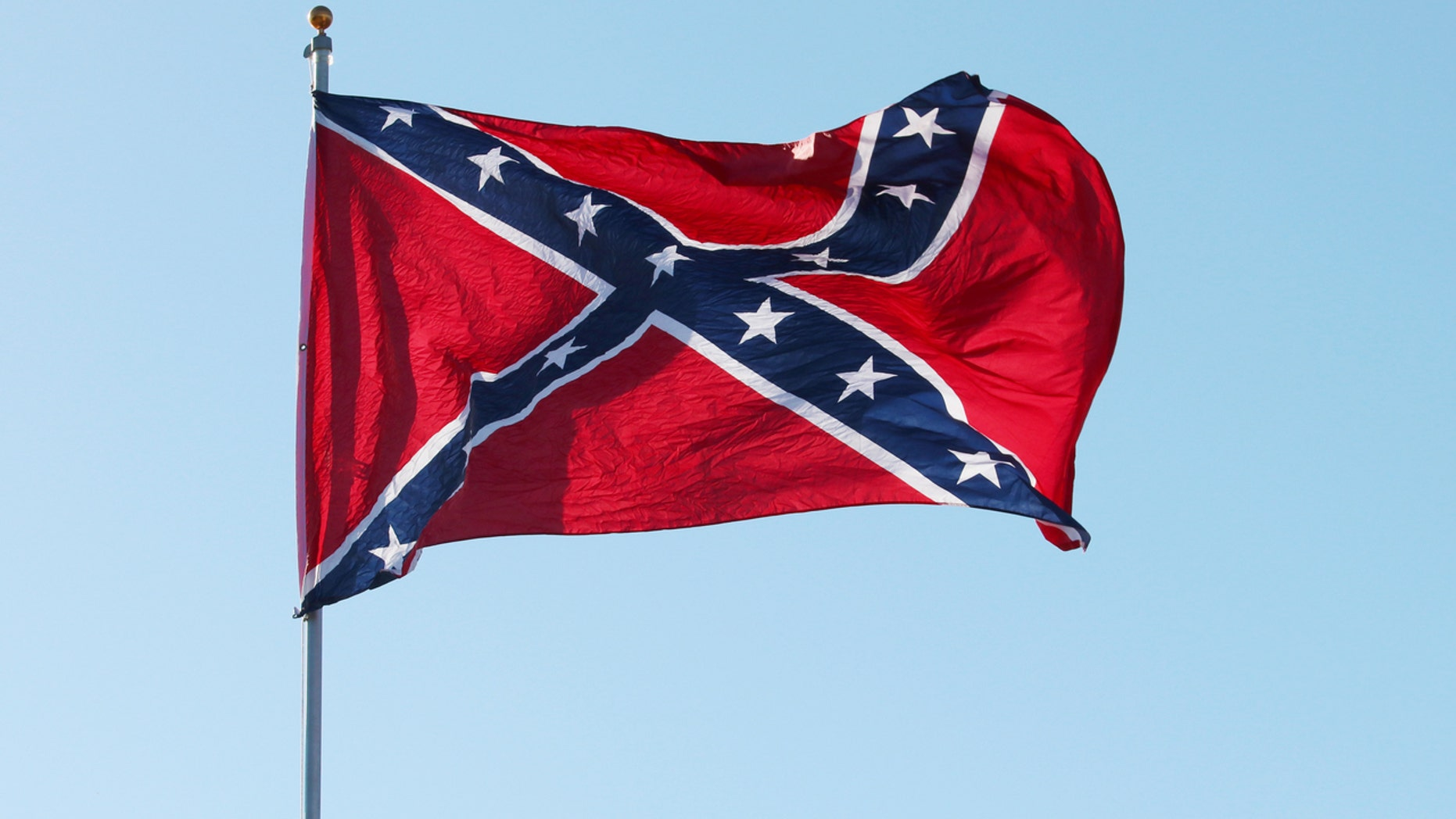 A South Carolina ice cream shop claims they have a permit allowing them to dig up the flag.