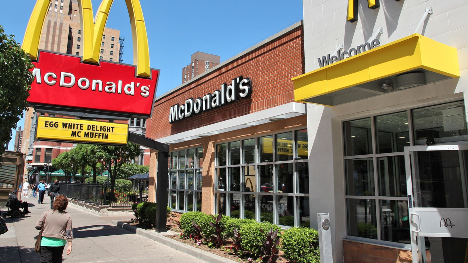 Officials said 20 people who ate salads at McDonald's restaurants in Illinois were sickened, while an additional 15 cases were reported in Iowa.