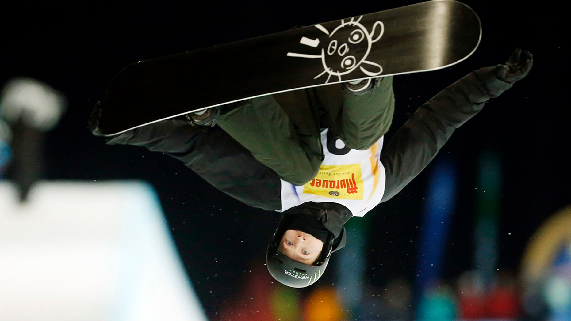 FILE - In this Jan. 17, 2015, file photo, Switzerland's Iouri Podladtchikov competes to place fourth at the snowboard halfpipe final at the Freestyle Ski and Snowboard World Championships in Kreischberg, Austria.