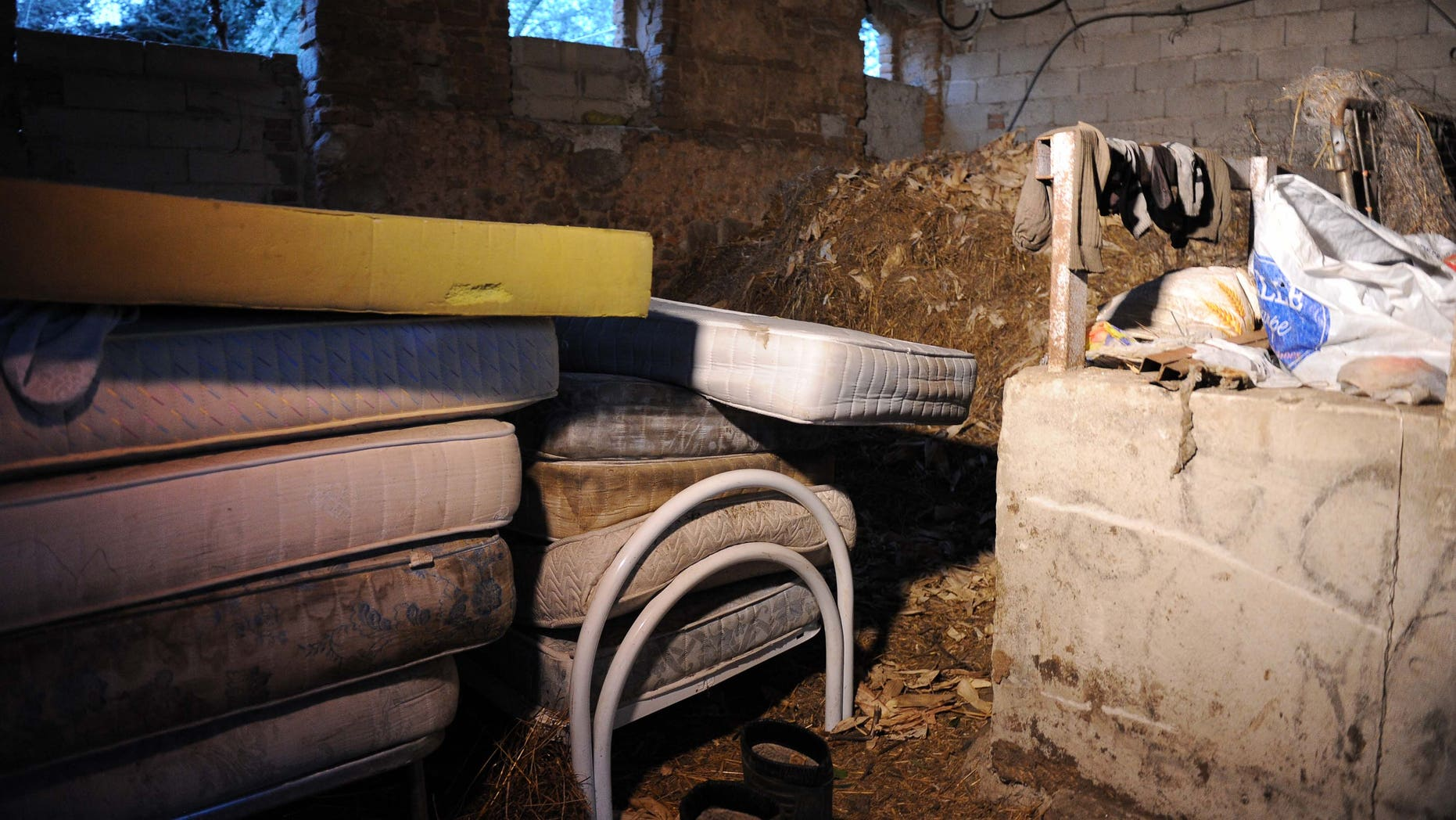 Feb. 29, 2016: A farmhouse where refugees took shelter in Southern Italy. (AP)