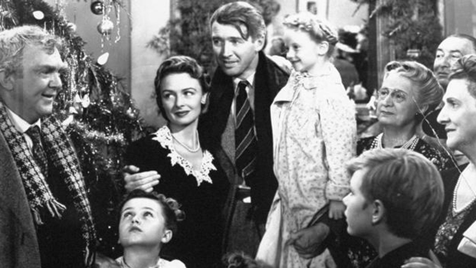 """Scene from Frank Capra's 1946 classic, """"It's a Wonderful life,"""" starring Donna Reed and Jimmy Stewart. (AP)"""