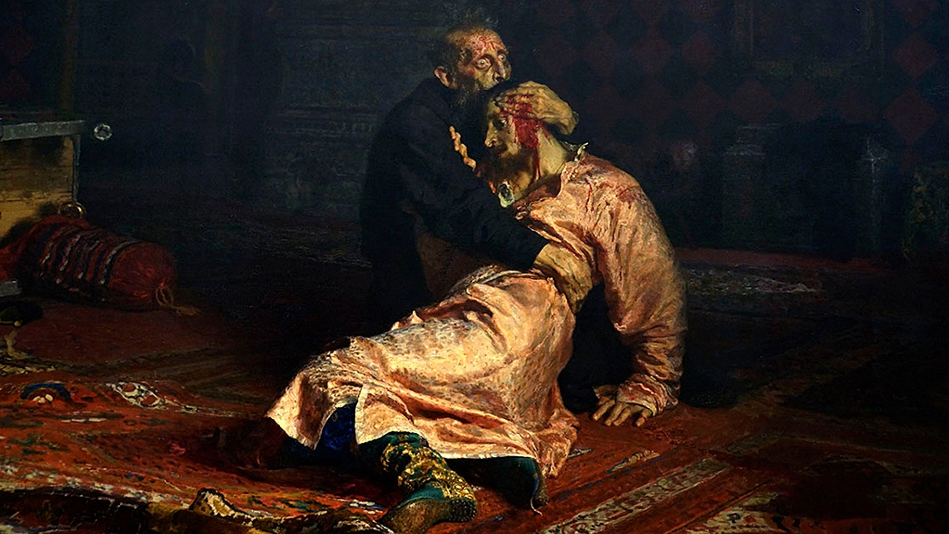 "The painting, named ""Ivan the Terrible and His Son Ivan on November 16, 1581,"" was vandalized on Saturday by a man who was reported to be in a vodka-fueled rampage."