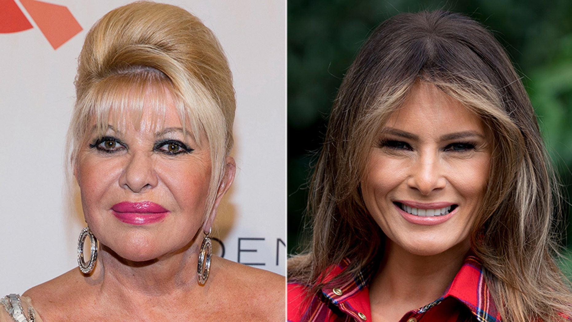 "Ivana Trump, at left, said she was the First Lady. The office of Melania Trump, at right, says there is ""no substance"" to her comment. (AP)"
