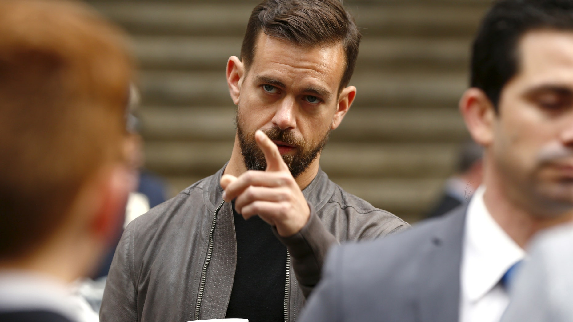 File photo - Jack Dorsey, CEO of Square and CEO of Twitter, arrives at the New York Stock Exchange for the IPO of Square Inc., in New York Nov. 19, 2015. (REUTERS/Lucas Jackson)