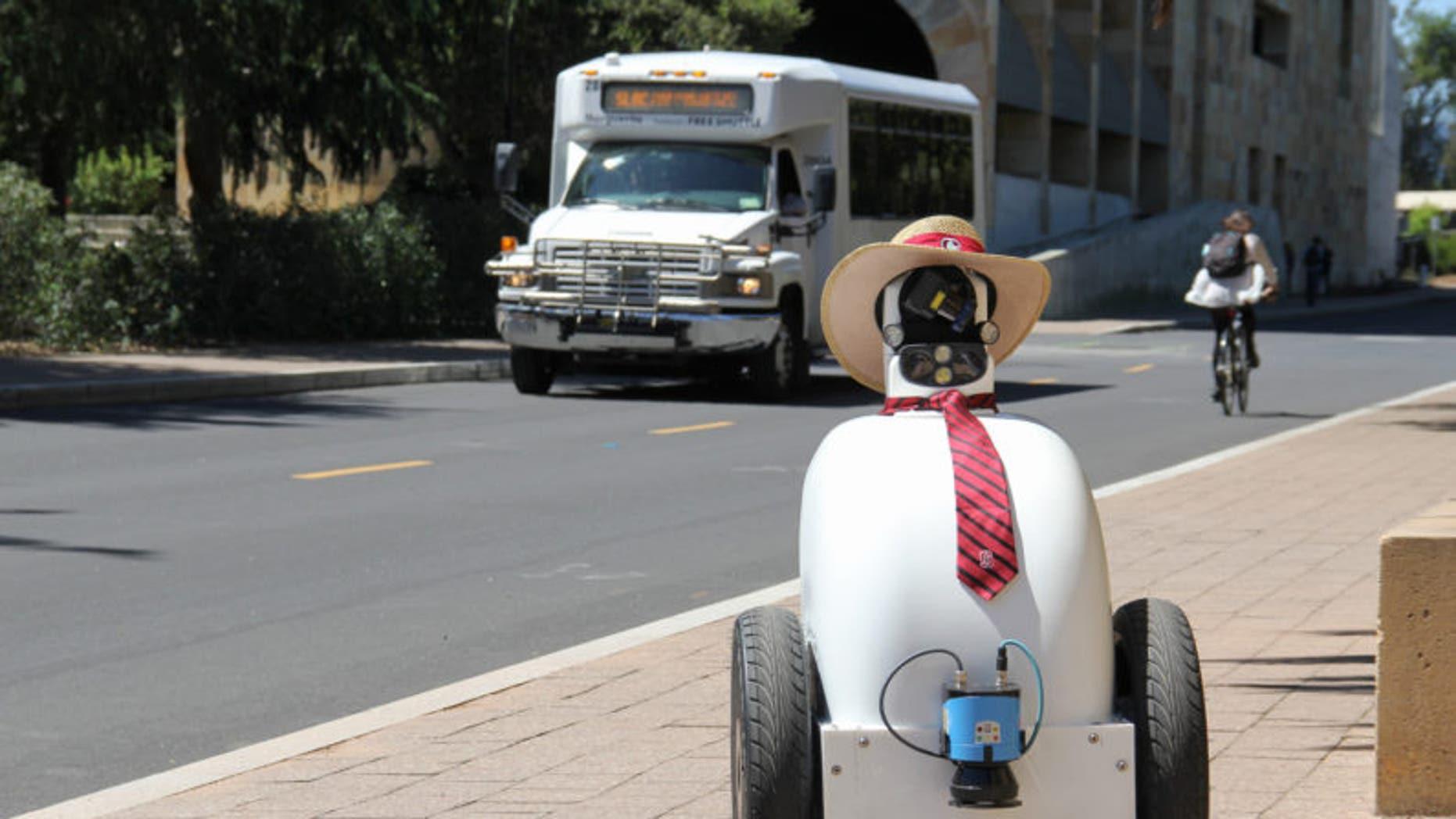 """Stanford's """"Jackrabbot"""" robot. (Vignesh Ramachandran)"""