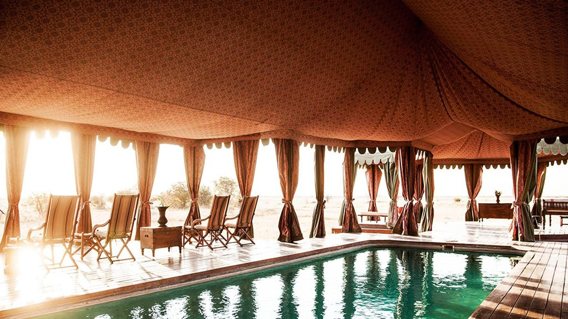 This is the Persian styled camp, Jack's Camp in Botswana