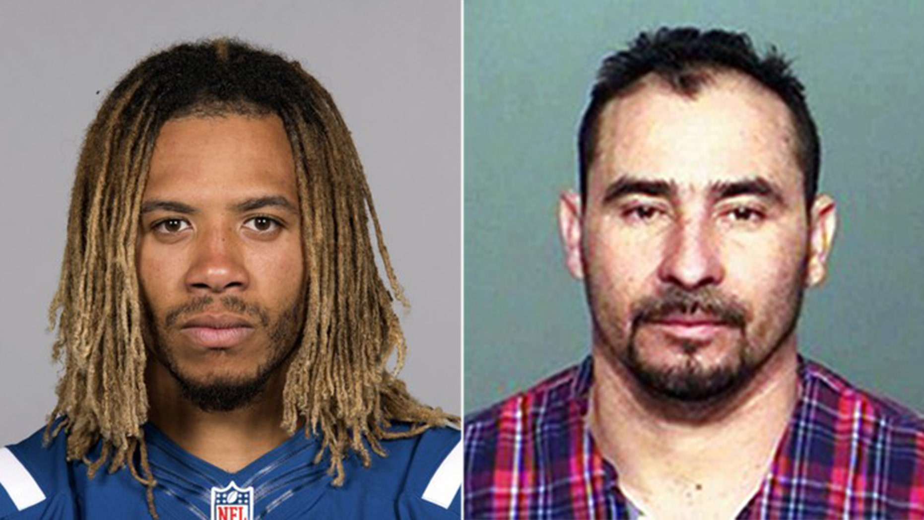 Manuel Orrego-Zavala, right, was charged Tuesday with illegally re-entering the U.S. following the suspected drunk driving crash Sunday that killed Indianapolis Colts linebacker Edwin Jackson.