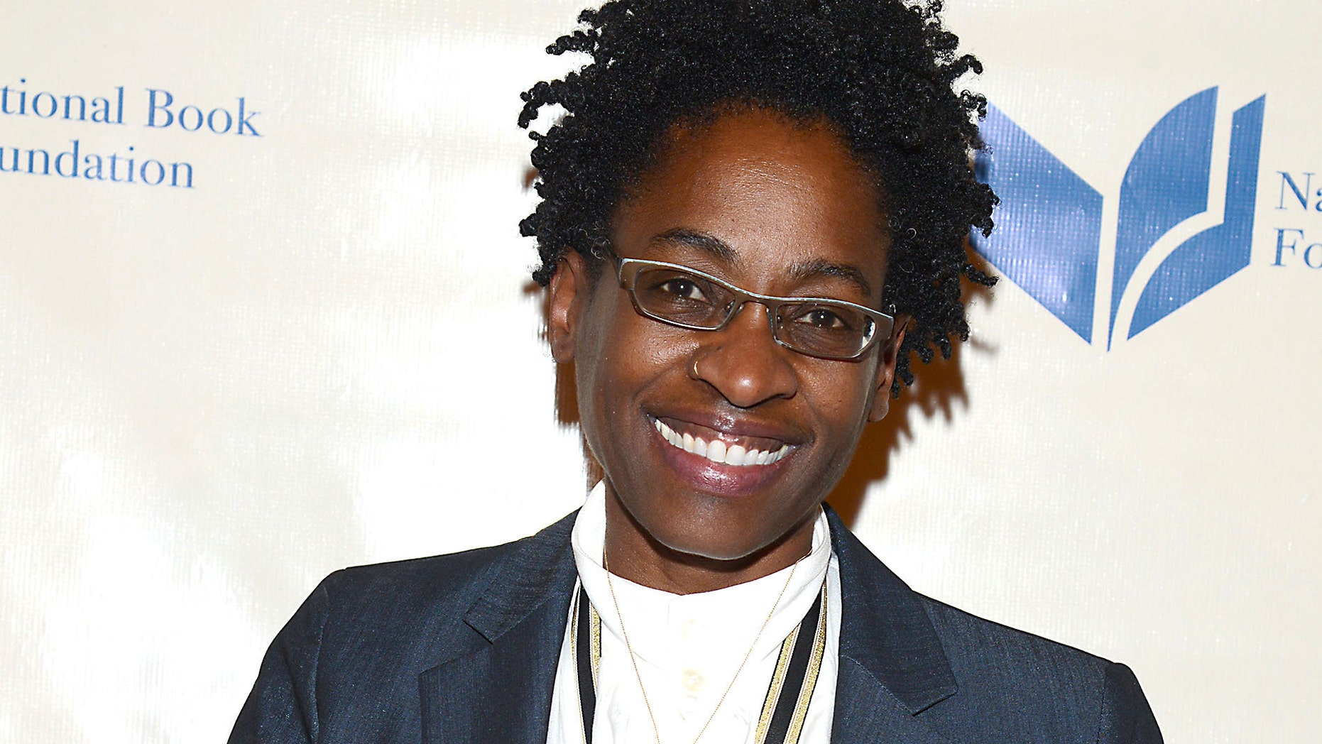 Nov. 19, 2014. Jacqueline Woodson, winner of the National Book Award for Young People's Literature, attending the 65th Annual National Book Awards at Cipriani Wall Street in New York.