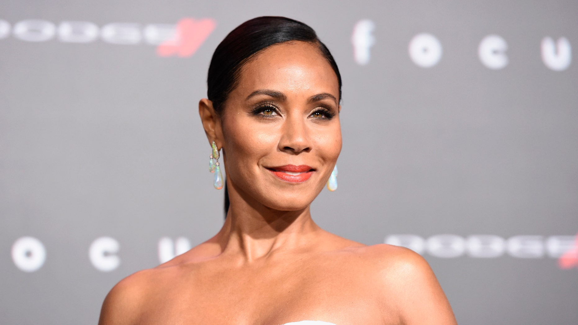 """Feb. 24, 2015. Jada Pinkett Smith arrives at the world premiere of """"Focus"""" at the TCL Chinese Theatre in Los Angeles."""