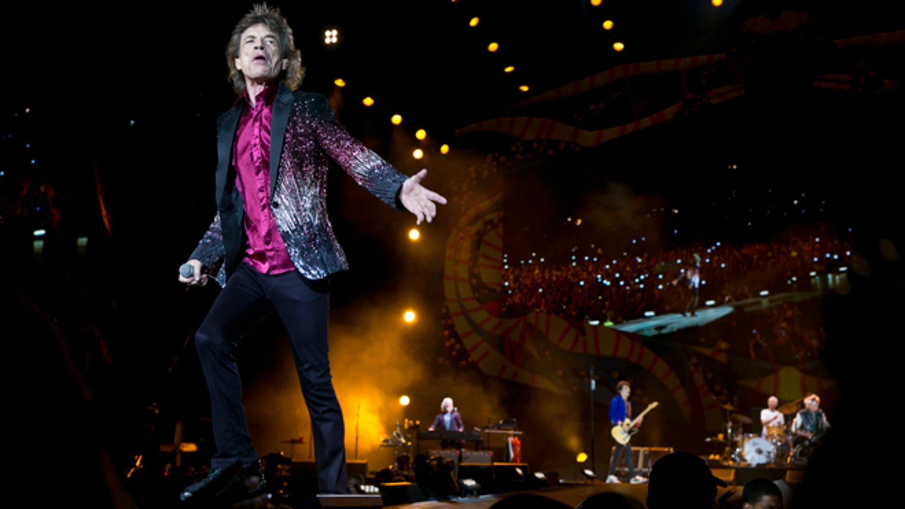 March 25, 2016. Mick Jagger of The Rolling Stones performs in Havana, Cuba.