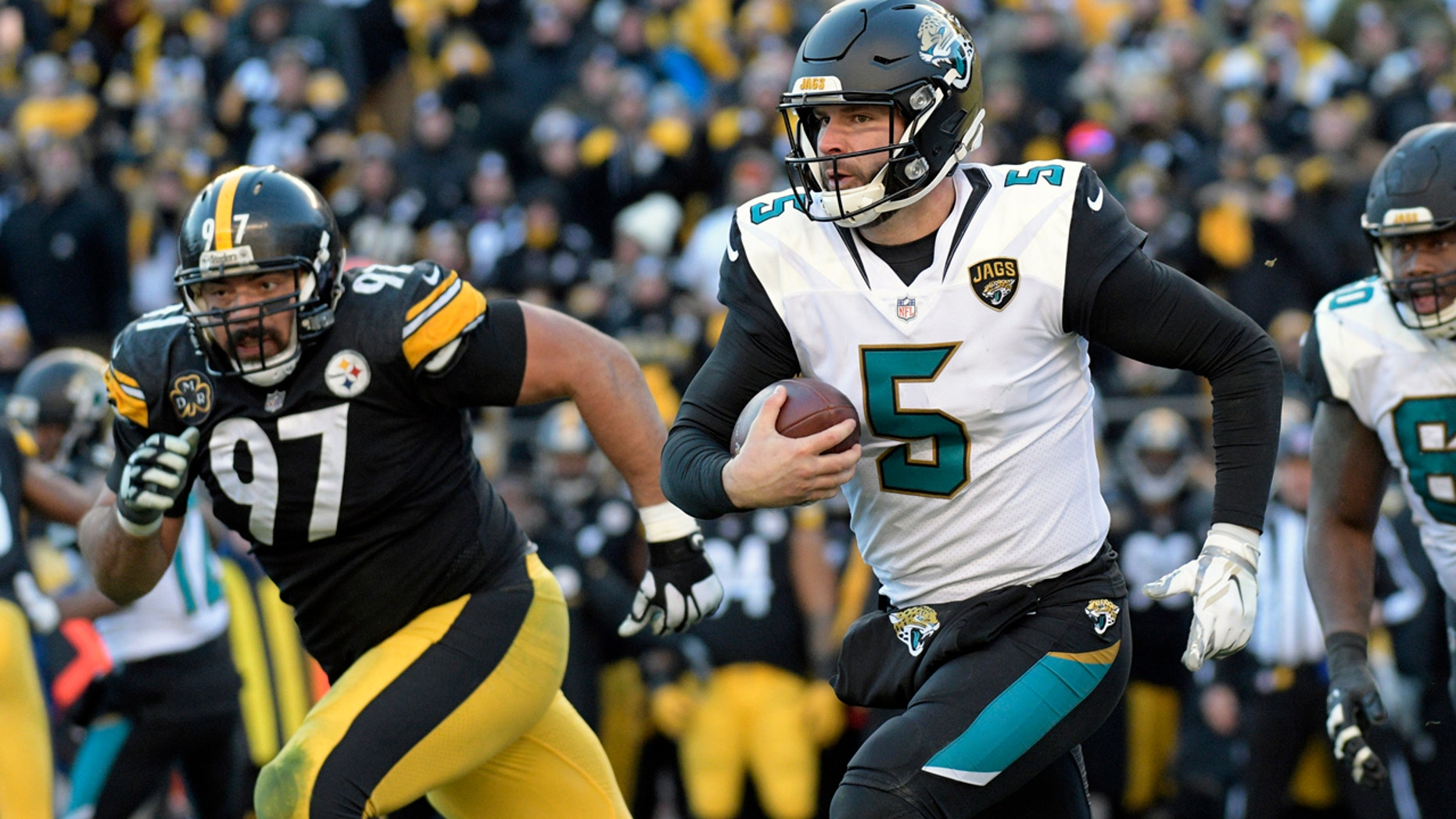 Jacksonville quarterback Blake Bortles accounted for 239 all-purpose yards in the Jaguars upset win.