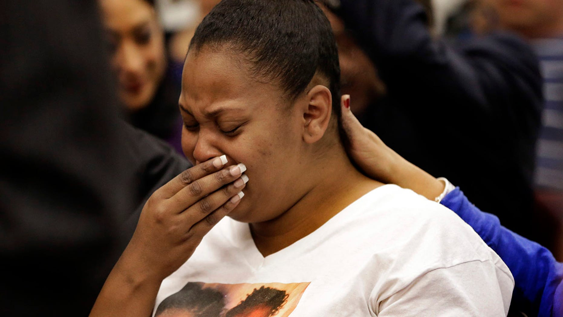 Dec. 13, 2013: In this file photo, Nailah Winkfield, mother of 13-year-old Jahi McMath, cries before a courtroom hearing regarding McMath, in Oakland, Calif.