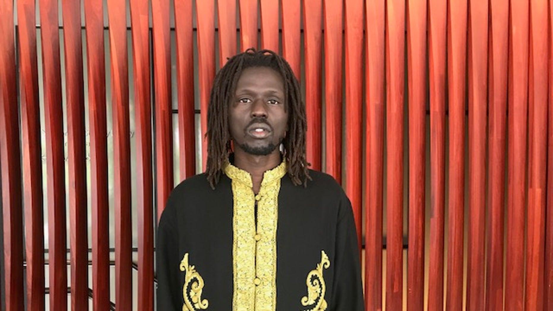 Recovered Sudanese child soldier turned activist and hip-hop artist, Emmanuel Jal