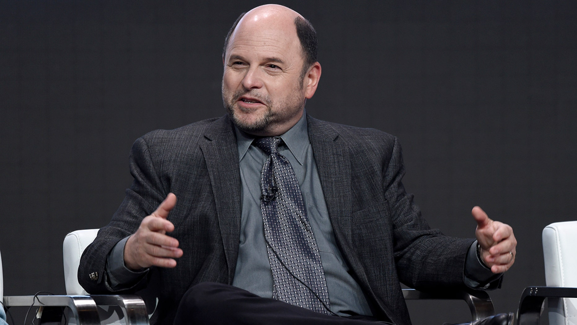 """Jason Alexander participates in the """"Hit the Road"""" panel during the Audience Network Television Critics Association Summer Press Tour at the Beverly Hilton on Tuesday, July 25, 2017, in Beverly Hills, Calif. (Photo by Chris Pizzello/Invision/AP)"""