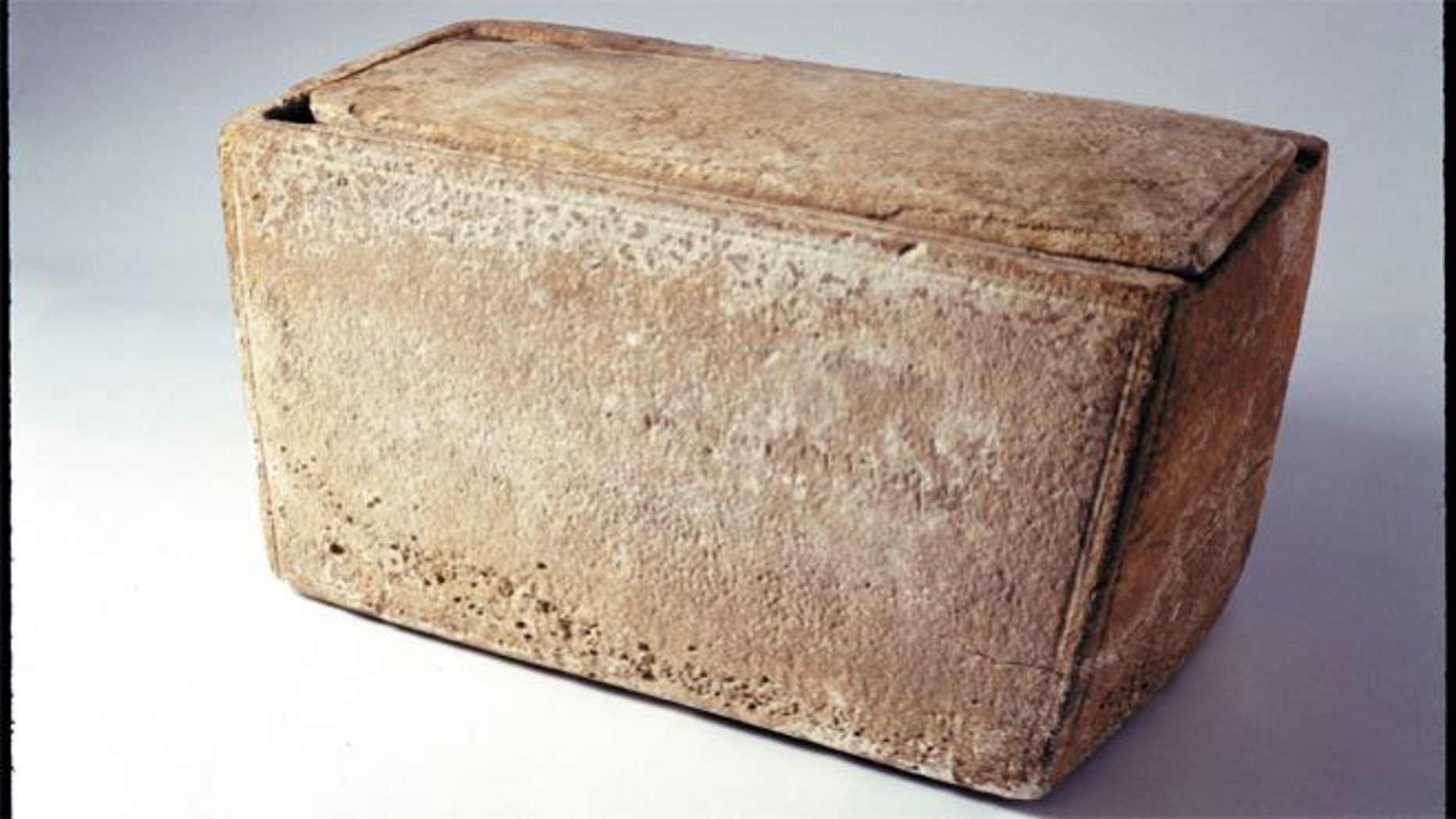 The James Ossuary is a limestone box that held the purported bones of Jesus' brother.