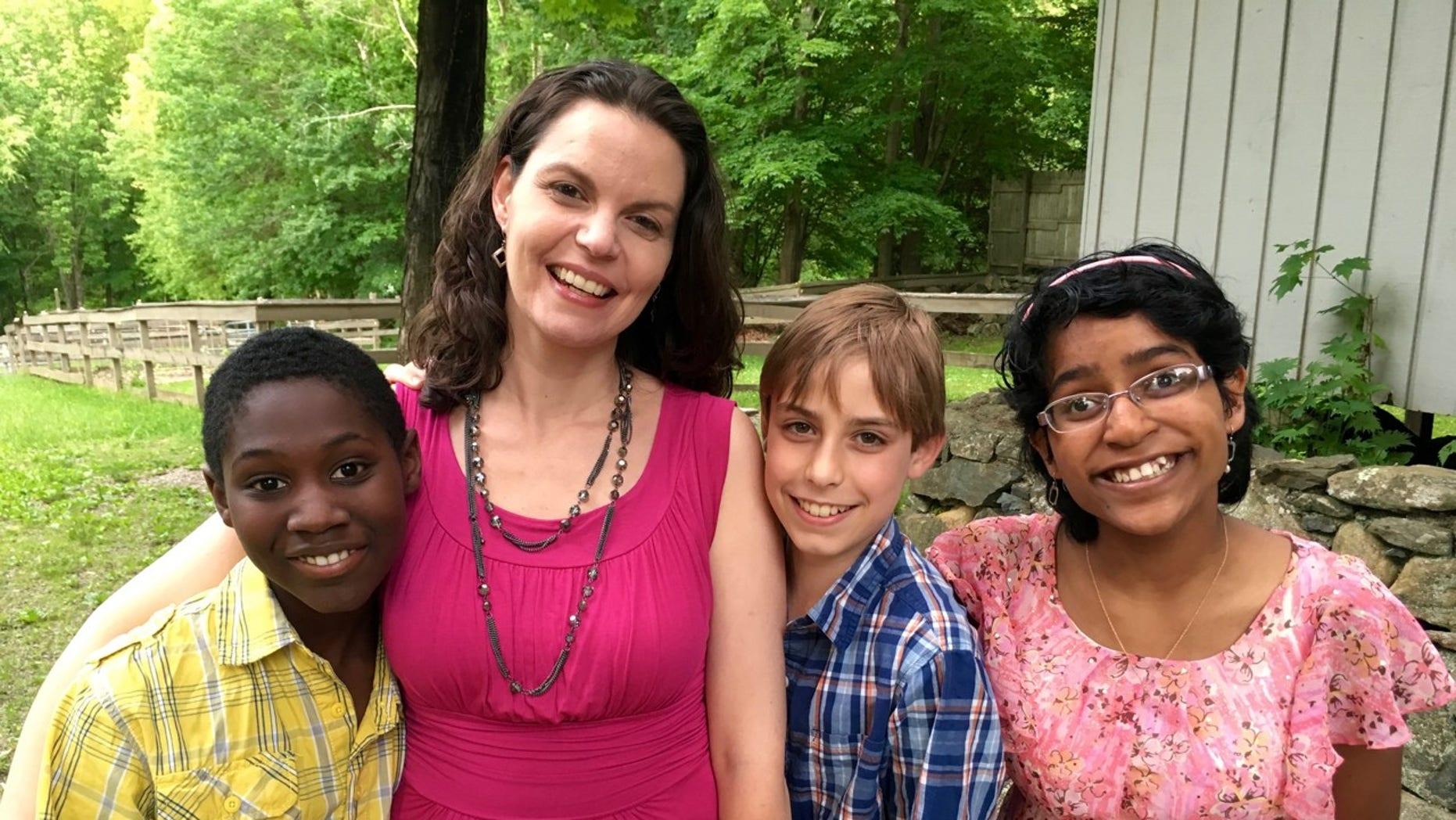 Jamie with her three children.