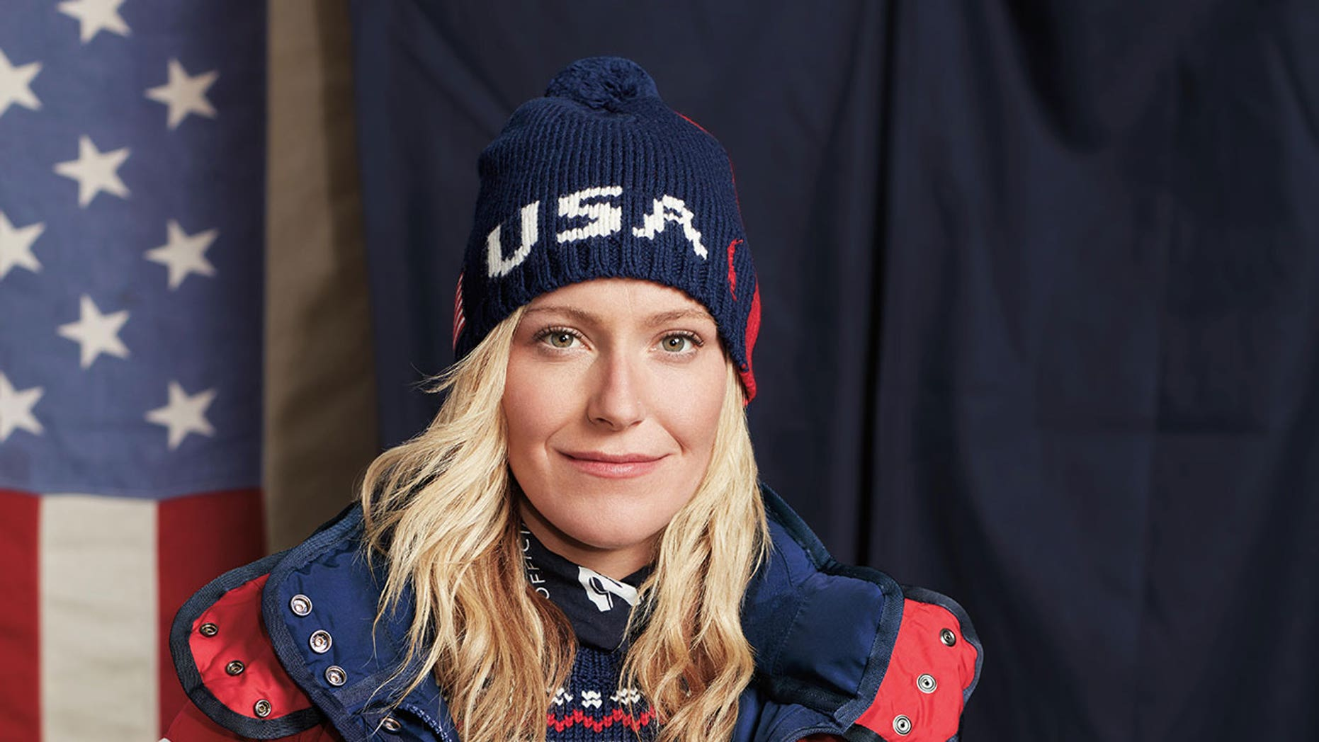 Snowboarder Jamie Anderson will be wearing this specially designed Ralph Lauren jacket containing a built-in heating element at the Winter Olympics in Pyeongchang.