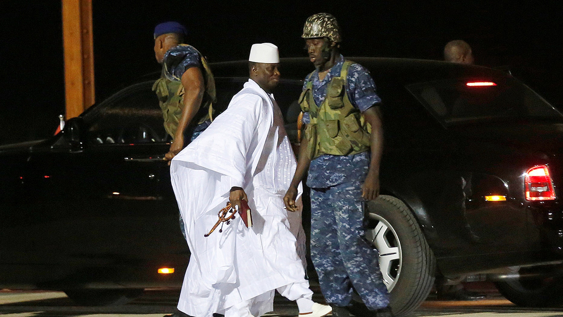 Jammeh has long been accused of human rights abuses during his rule that began after a bloodless coup in 1994. He lost December 2016 elections to now-President Adama Barrow and, after a political standoff, fled into exile to Equatorial Guinea in January 2017.