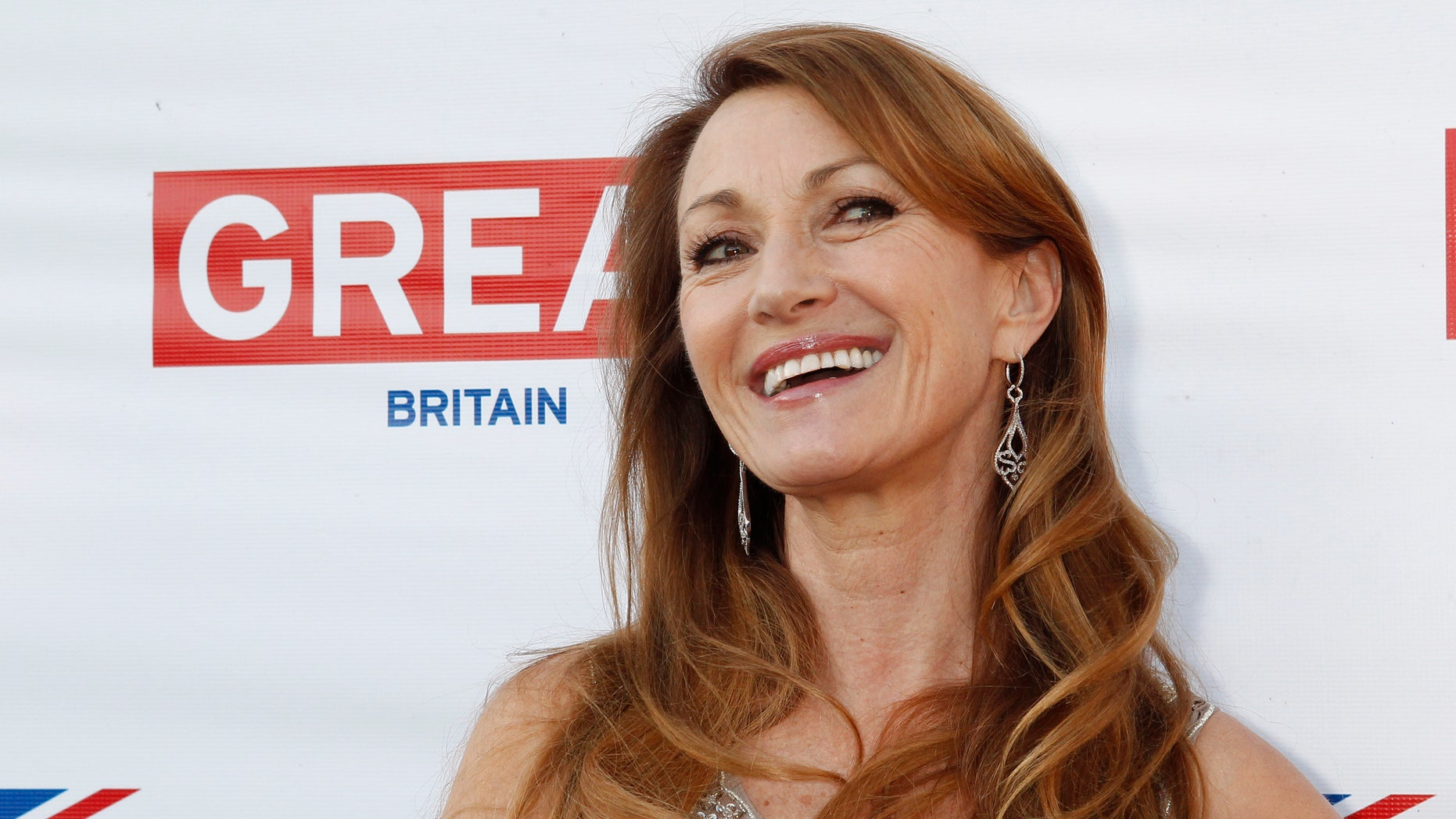 February 22, 2013. Jane Seymour arrives at the Great British Film Reception to honor the British Oscar nominees at the residence of the British Consul-General in Los Angeles.