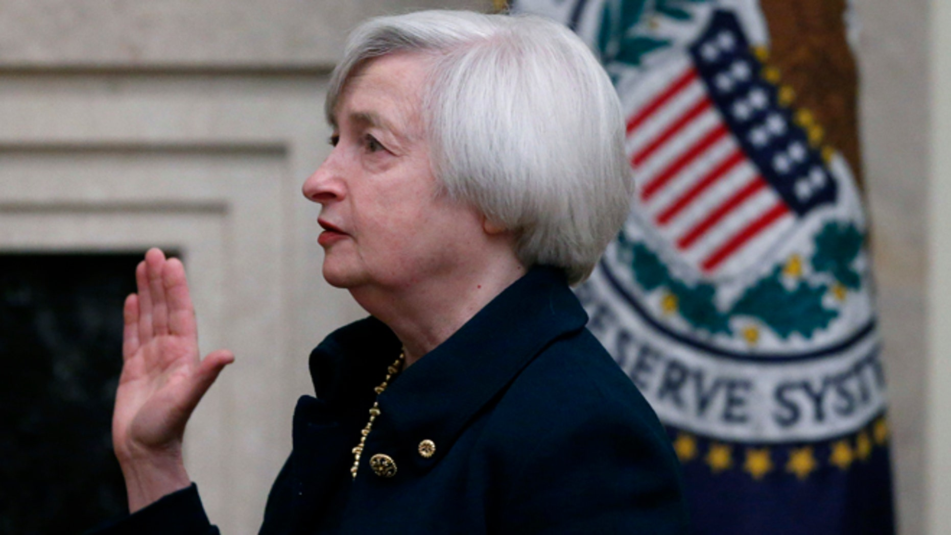 Feb. 3, 2014: Janet Yellen is sworn in as Federal Reserve Board Chair. She's the first woman to lead the Federal Reserve in its 100-year history.