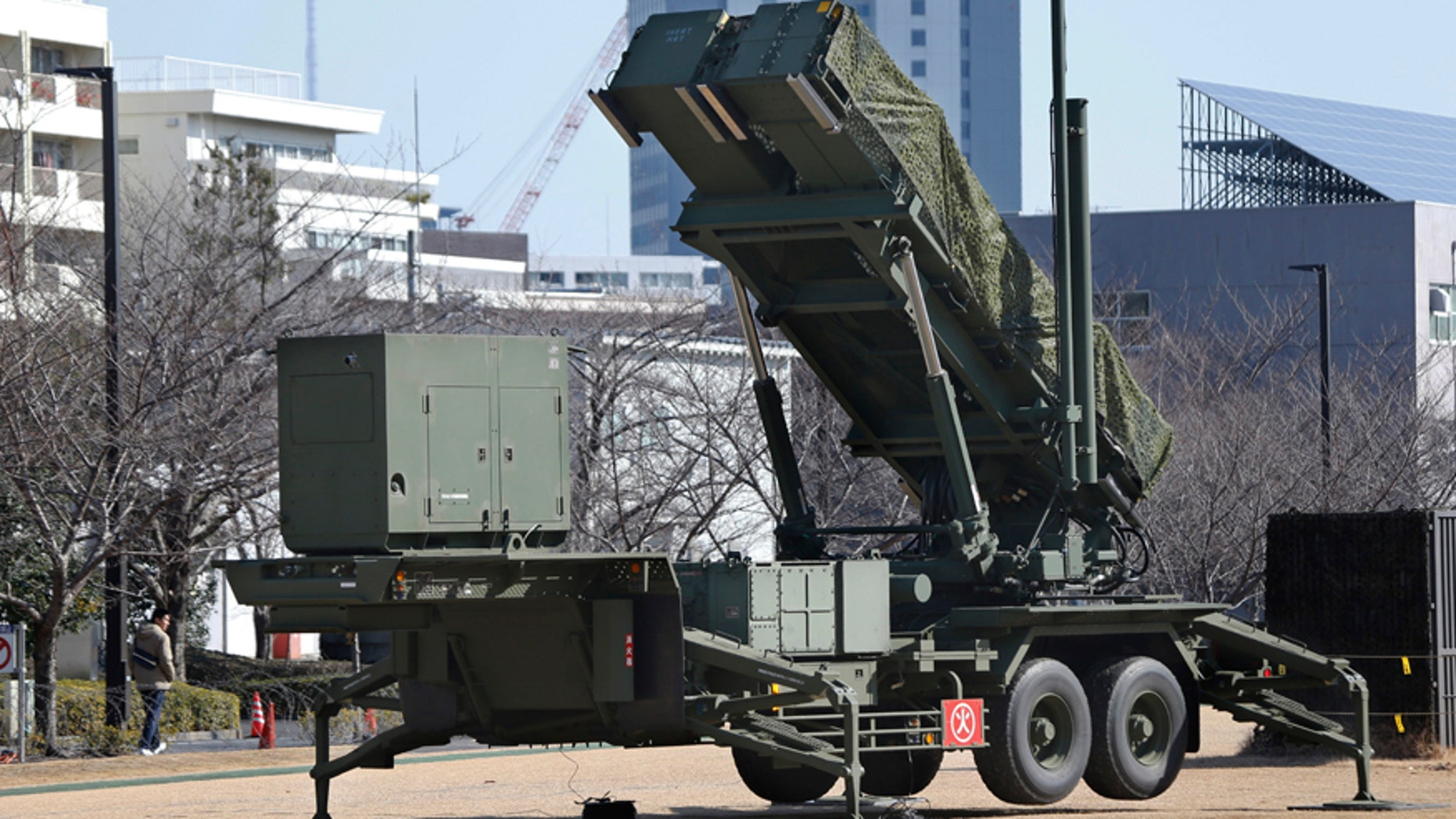 Jan. 31, 2016: A PAC-3 Patriot missile unit deployed for North Korea's rocket launch at the Defense Ministry in Tokyo.