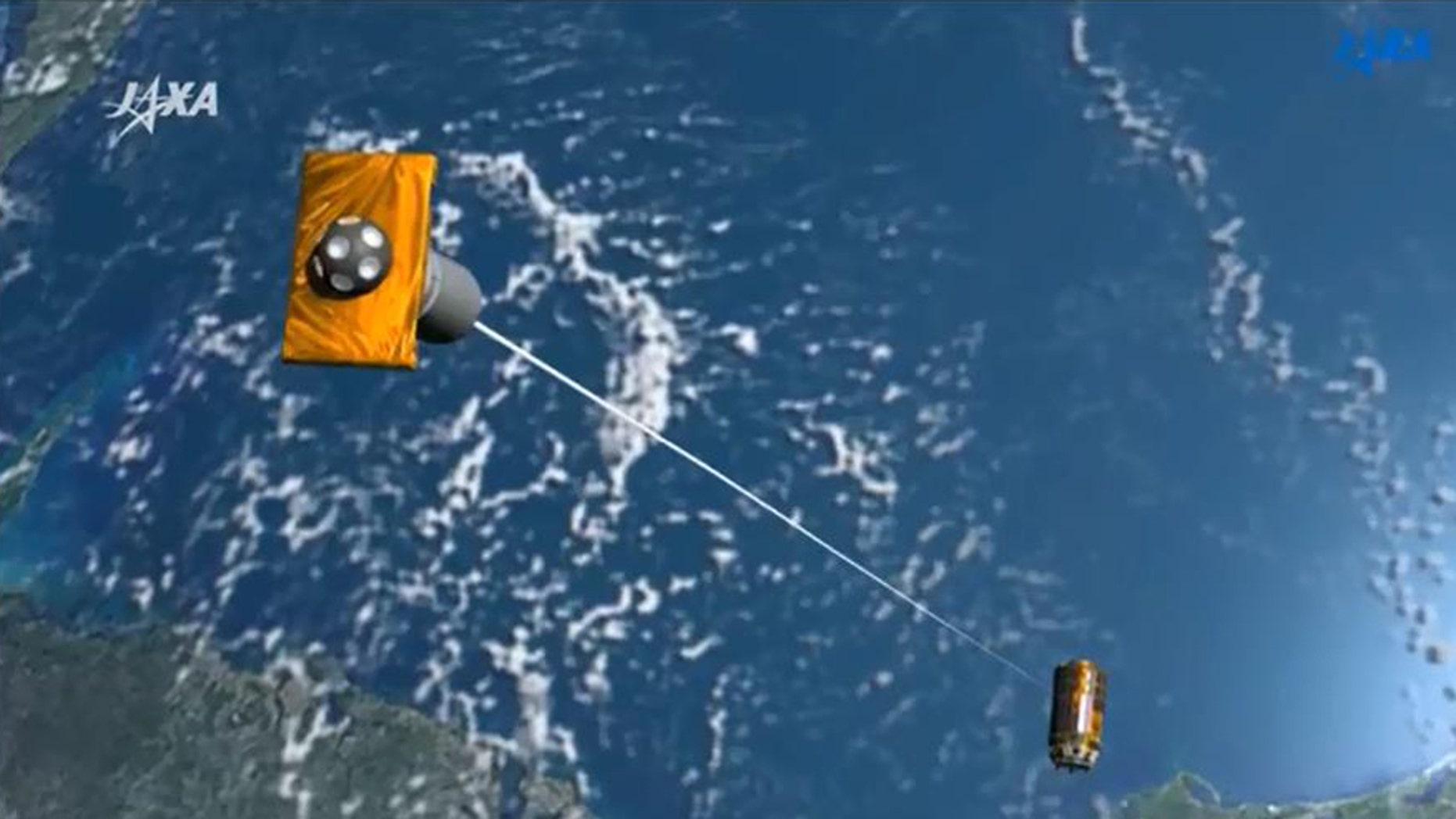 (Artist's impression - screenshot from JAXA YouTube video)