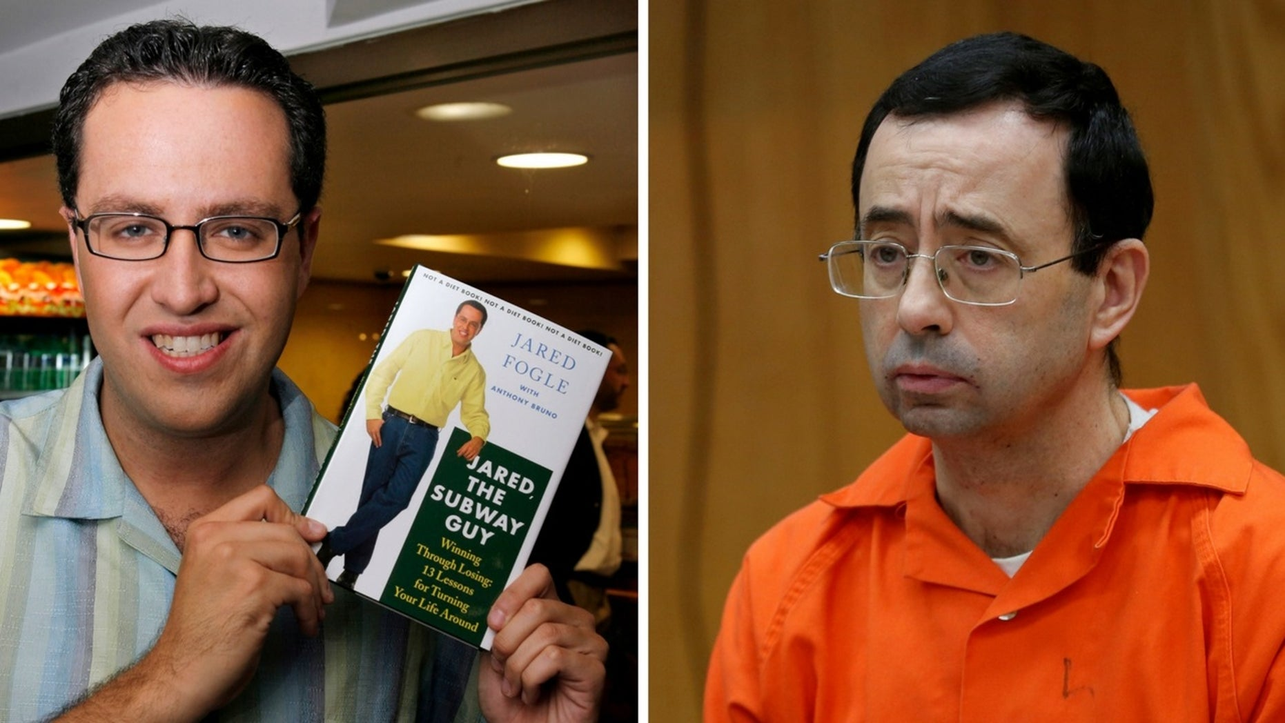 Jared Fogle compared his crimes to Larry Nassar's as a way to reduce his prison sentence.